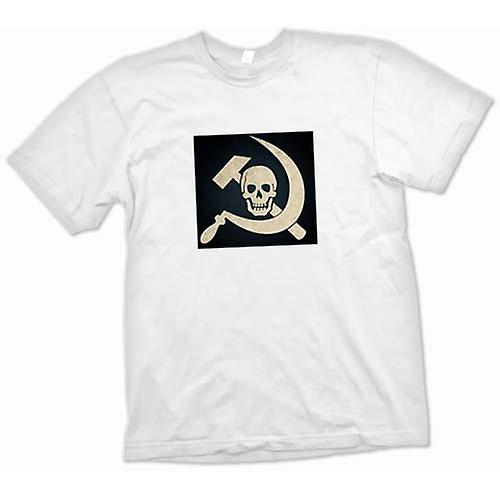 Womens T-shirt - Russian Hammer & Sickle With Skull