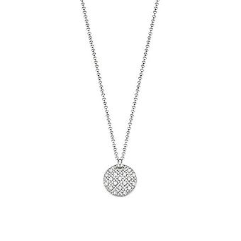 ESPRIT women's chain necklace stainless steel Silver cubic zirconia ESNL03025A420