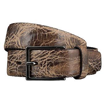 Cintura in pelle di bovino Cinture uomo Cinture in pelle marrone 3514