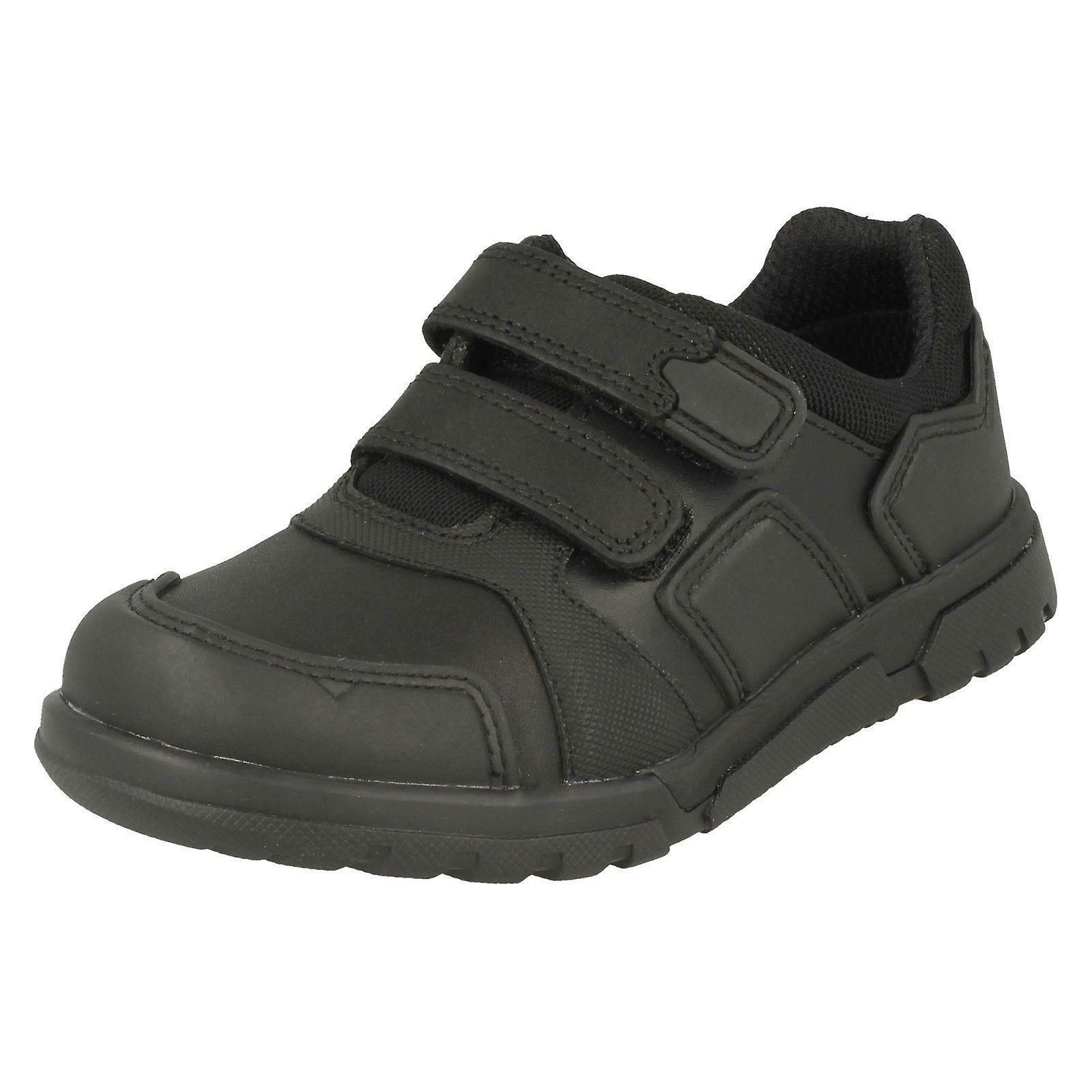 Boys Clarks Shoes Hook & Loop School Shoes Clarks Blake Street<wide range<Gentlemen/Ladies 835e0b