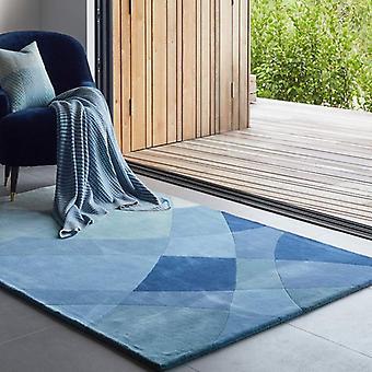 Teppiche - Claire Gaudion - rhythmische Gezeiten blau