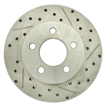 StopTech 227.65054L Select Sport Drilled and Slotted Brake Rotor; Front Left