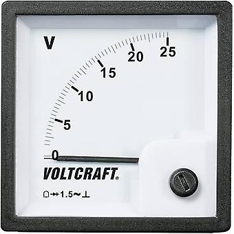 Analogue rack-mount meter VOLTCRAFT AM-72x72/25V 25 V Moving iron