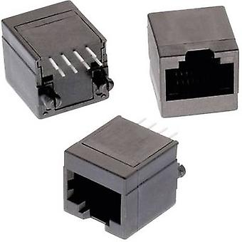 Jack modulare in piedi non schermato 8P8C WR MJ Socket, verticale verticale numero di pin: 8P8C nero Würth Elektronik 615008138021 1/PC