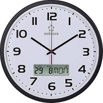 Renkforce HD-WRCL135 Radio Wall clock 32 cm x 4.5 cm Black