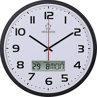 Reloj de pared de Radio de HD-WRCL135 Renkforce 32 x 4,5 cm negro