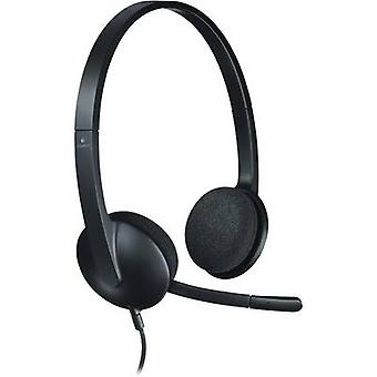 PC headset USB Corded, Stereo Logitech H340 On-ear