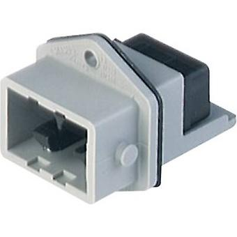Mains connector STASEI Series (mains connectors) STASEI Plug, vertical mount Total number of pins: 5 + PE 6 A Grey Hirsc