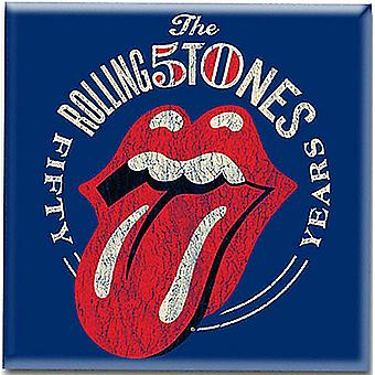 Rolling Stones 50Th Anniversary Steel Fridge Magnet