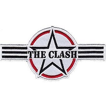 The Clash Three Stripes Logo Iron-On / Sew-On Cloth Patch 125Mm X 65Mm