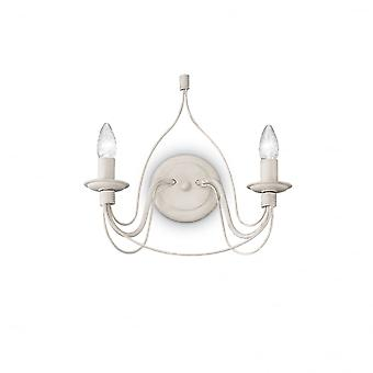 Ideal Lux Corte Twin Wall Light White Antico
