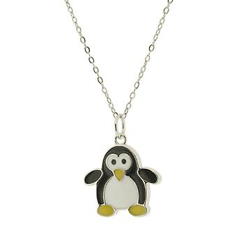 Orphelia 925 Silver Kids Pendant with Chain 42 CM Penguin
