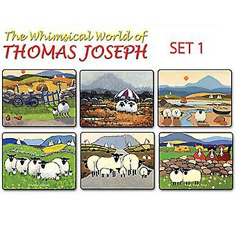 Thomas Joseph Sheep Design Place Mat Set of 6 (Set 1)