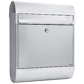 MEFA letter box Ruby (866) stainless steel m.integrierter newspaper role wall letter box