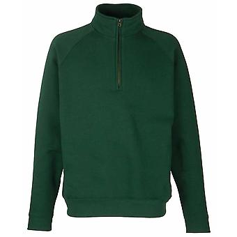 Fruit Of The Loom Mens Zip Neck Sweat Shirt