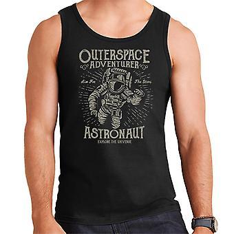 Outerspace avonturier Astronaut Retro Logo mannen Vest