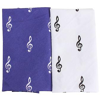 David Van Hagen Treble Clef Handerchief Set - Blue/White