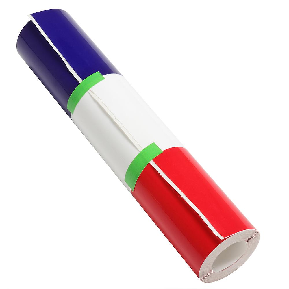 TRIXES French Flag Red White Blue Car Tape 2m x 0.15m Self Adhesive Bubble Free Bastille Day