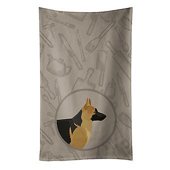 Carolines Treasures  CK2187KTWL German Shepherd In the Kitchen Kitchen Towel
