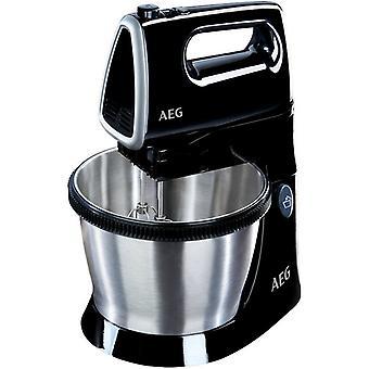 AEG SM3300 mixette avec mélange bol fouet et pâte crochets + 350W noir/argent