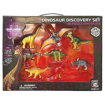 مجموعة 3D لغز الديناصورات