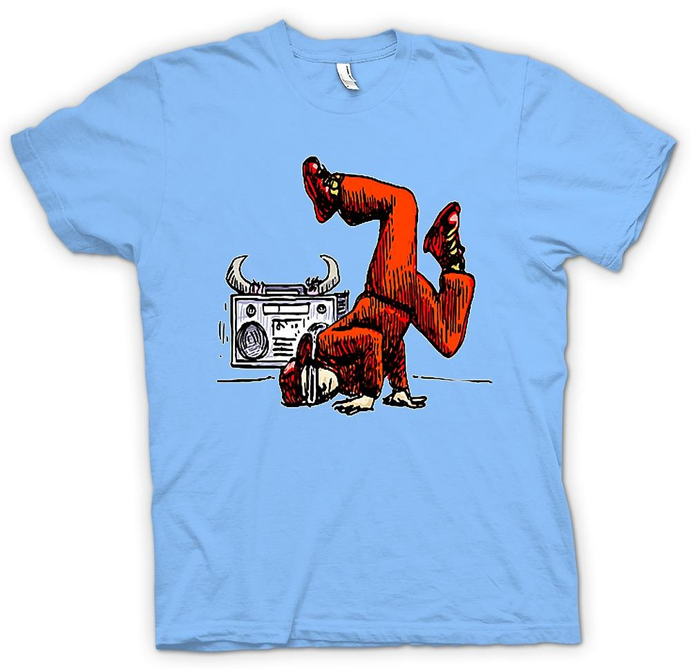 Mens T-shirt - Breakdance - Hip Hop - Farbe