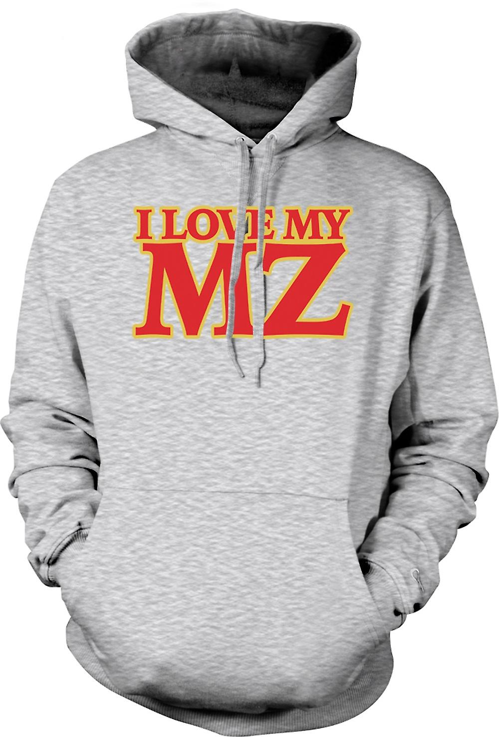 Mens Hoodie - I love my MZ - Motorcycle - Biker