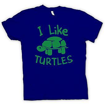 Camiseta para hombre - yo como las tortugas