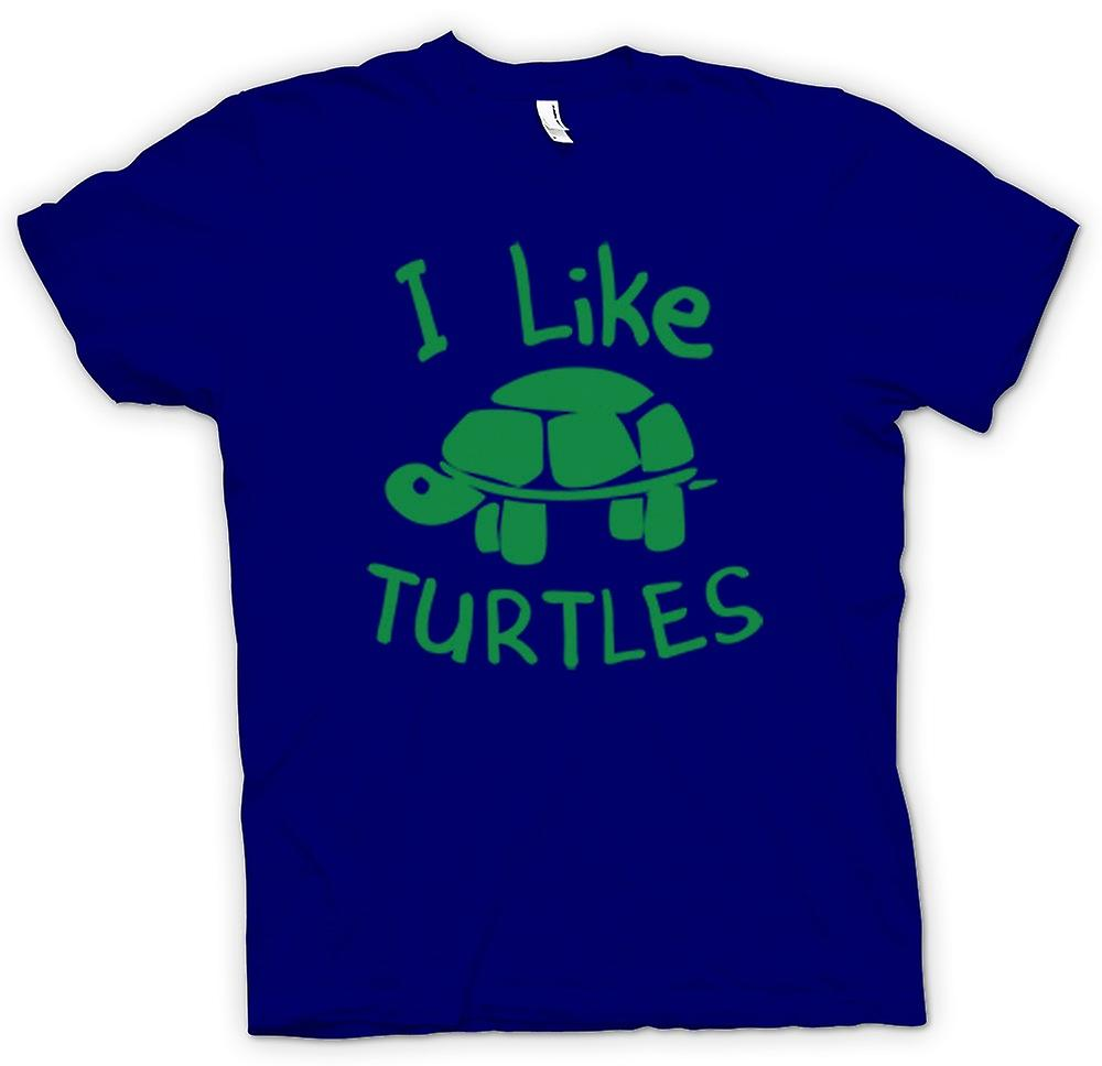 Mens T-shirt - I Like Turtles