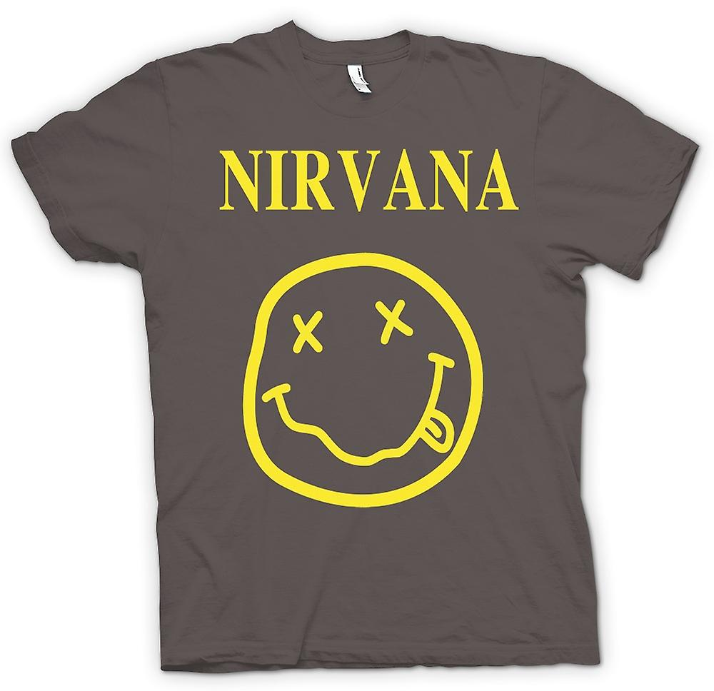 Mens T-shirt - Nirvana Smiley Face