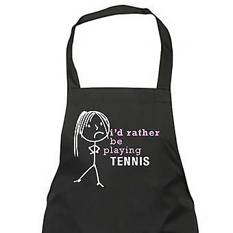 السيدات أنا بدلاً من أن يلعب كرة المضرب المئزر