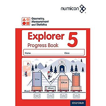 Numicon: Geometri mätning och statistik 5 Explorer Progress Book