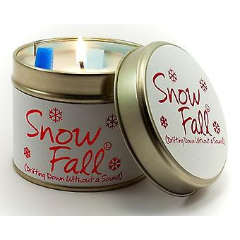 Lily Flame Scented Candle in a presentation Tin - Snow Fall