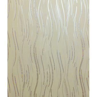 Glitter Wallpaper Shimmer Textured Modern Lines Stripes Beige Brown Silver
