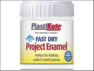 Plasti-kote Fast Dry Enamel Paint B4 Bottle White Gloss 59ml