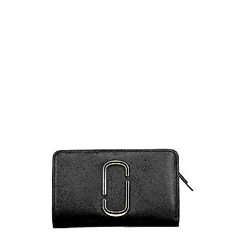 Marc Jacobs White/black Leather Wallet