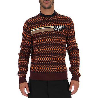 Suéter de algodón Multicolor de Prada