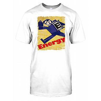 Energía - diseño gráfico Retro Pop Art Poster para hombre camiseta