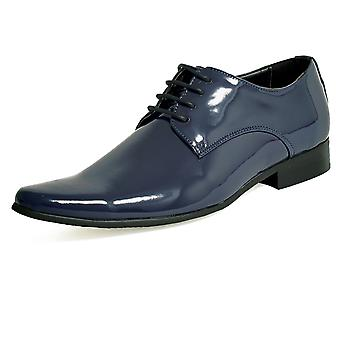 Dobell Mens Navy Dress Shoes Patent Contemporary Style Laced Dobell Mens Navy Dress Shoes Patent Contemporary Style Laced Dobell Mens
