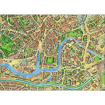 Cityscapes Street Map Of Bristol 400 Piece Jigsaw Puzzle 470mm x 320mm (hpy)