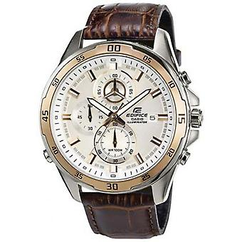 Montre Casio EFR-547L-7AVUEF - Montre Cuir Marron Or Homme