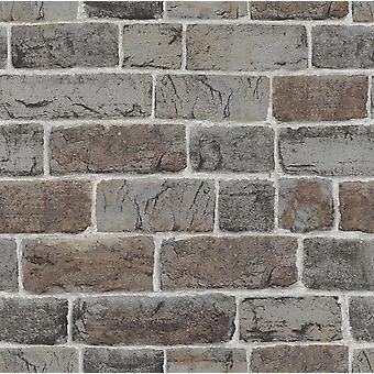 Mursten effekt tapet naturlig væg Urban sten præget industriel rustik