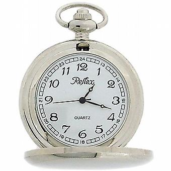 Reflex Plain Quartz Movement Pocket Watch on a 12 Inch Chain 141045SP