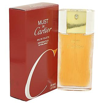 MUST DE CARTIER by Cartier Eau De Toilette Spray 1.6 oz / 50 ml (Women)