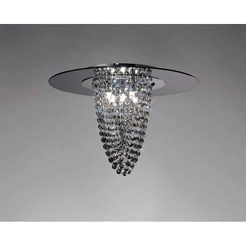 Oberon Ceiling 5 Light Polished Chrome smoked Mirror smoked Crystal