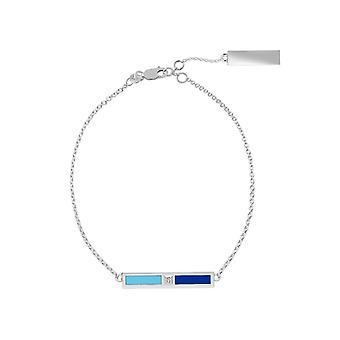 Spelman College Diamond Bar Bracelet In Light Sky Blue And Blue
