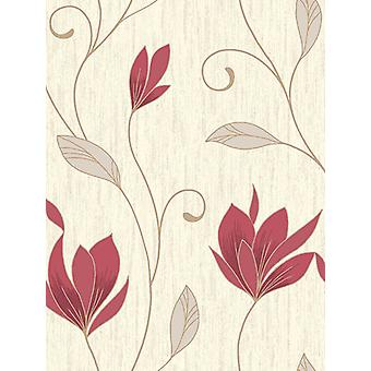 Synergy Floral Glitter Wallpaper Vymura