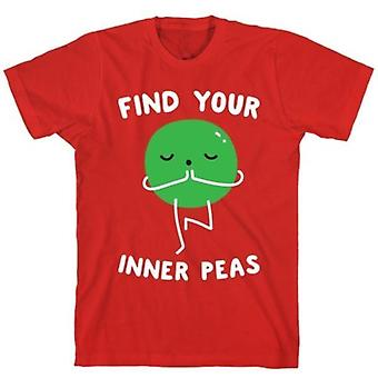 Find your inner peas red t-shirt