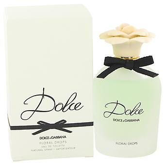 Dolce Floral Drops by Dolce & Gabbana Eau De Toilette Spray 2.5 oz / 75 ml (Women)