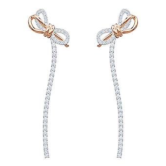 Swarovski Earrings Lifelong Bow - white - mixed plating